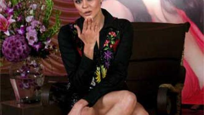 Shaila Durcal durante un acto promocinal en México.