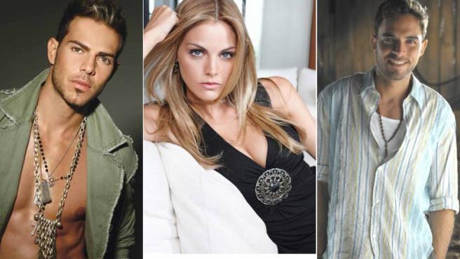 Juan Alfonso Baptista (izqda.), Amaia Salamanca y Manolo Cardona; los tres actores que no acudieron al plató de 'La Noria'.