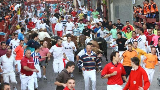 Imagen de archivo de un encierro en San Sebastián de los Reyes (Madrid).