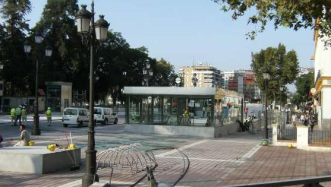 Estacion de metro de Puerta Jerez, antes de su inauguración