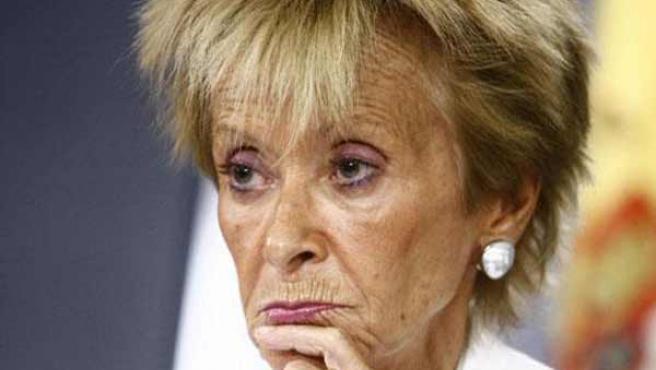 La vicepresidenta De la Vega, en una imagen de archivo.