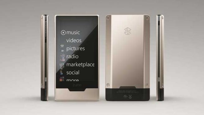 Imagen del nuevo Zune HD.