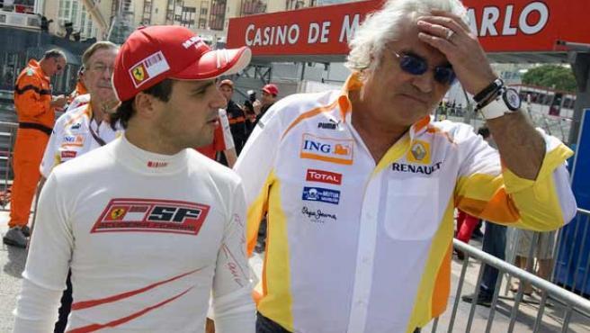 Briatore (drcha), junto a Felipe Massa (izqda).