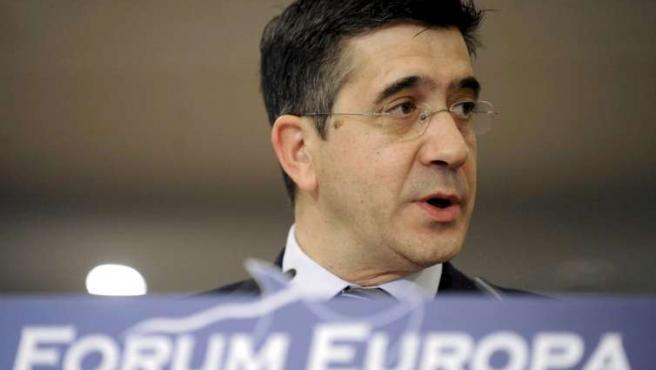 El lehendakari, Patxi López, analiza la situación del País Vasco en el Fórum Europa.