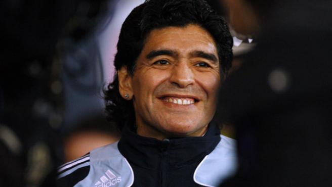 El seleccionador y ex futbolista Diego Armando Maradona.