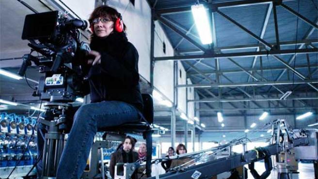 La cineasta española Isabel Coixet, durante el rodaje de la película 'Elegy'.