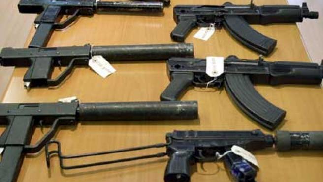 Armas decomisadas en junio, en la Costa del Sol, al 'clan Tambovskaya', la mafia rusa más importante.