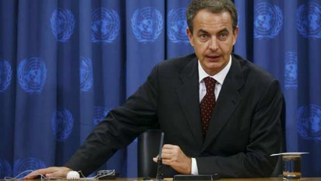 José Luis Rodríguez Zapatero, en la sede de Naciones Unidas.