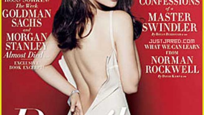 Penélope Cruz en la portada de la edición estadounidense de la revista.
