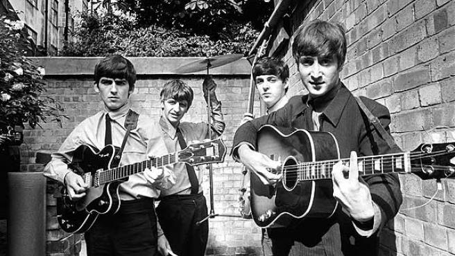 Una imagen promocional de The Beatles.