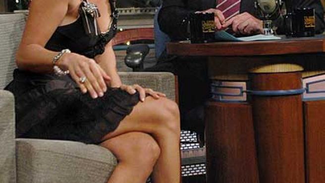 David Letterman entrevista a Jennifer López, en una imagen de archivo.