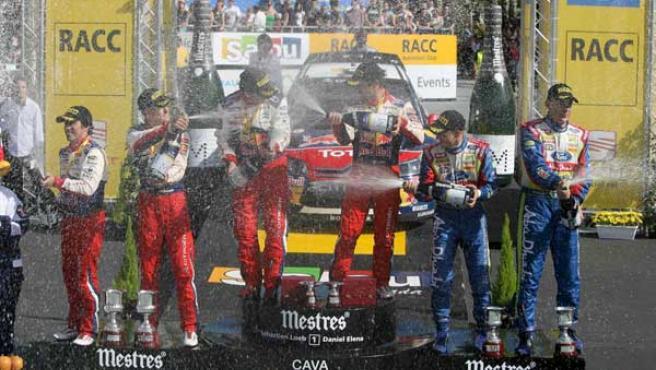 Citroën celebra el doblete en el Rally de Catalunya.