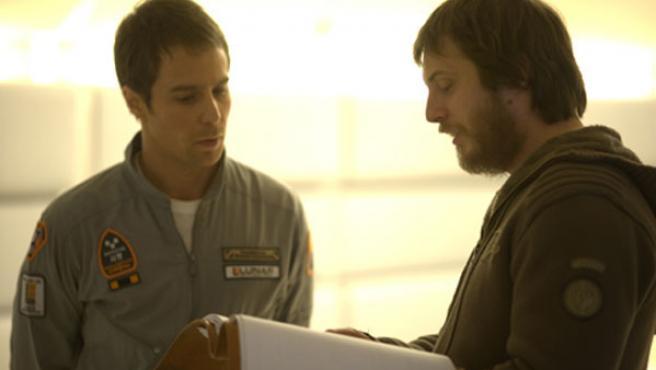 Sam Rockwell y Duncan Jones, protagonista y director respectivamente de 'Moon'.