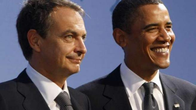 Zapatero y Obama, en la cumbre del G-20.