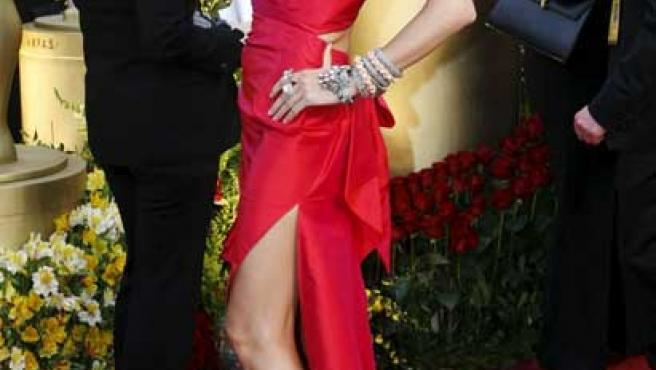 Heidi Klum, en la alfombra roja de los Oscar.
