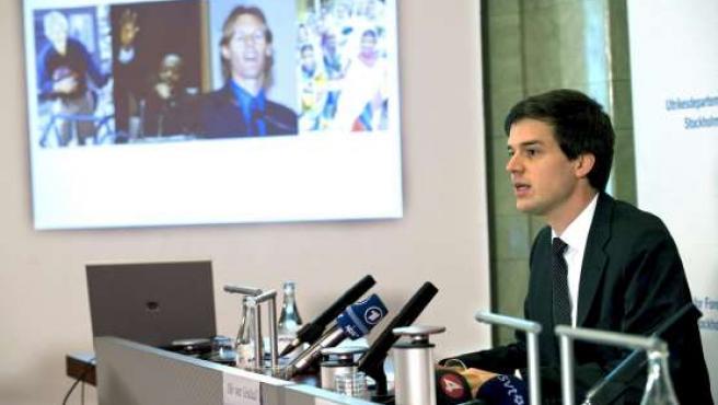 El escritor y ex eurodiputado Jakob von Uexküll durante la presentación de los nombres de los ganadores.