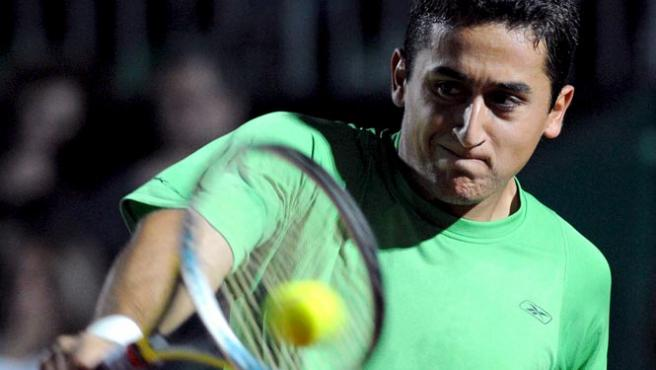 El murciano Nicolás Almagro, durante un partido.