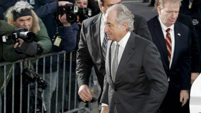 Bernard Madoff, en una foto reciente a su llegada a los juzgados de Nueva York.