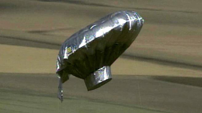 Imagen del globo en el que se pensaba que viajaba un niño de seis años, en el estado de Colorado (EE UU).