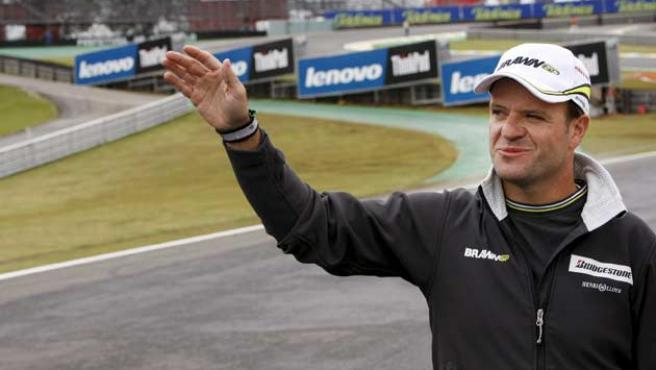 Rubens Barrichello, de Brawn GP, en el circuito de Interlagos, en Sao Paulo.