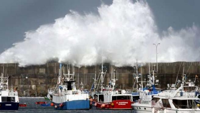 El puerto pesquero de la localidad asturiana de Cudillero.