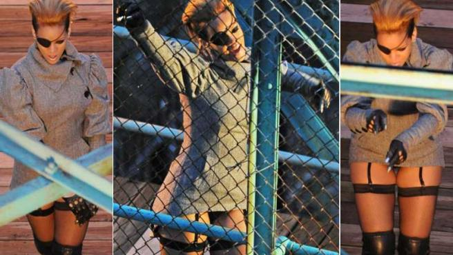 Imágenes de Rihanna en la grabación de su nuevo videoclip.