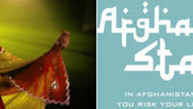 Imagen de una escena y detalle del cartel de 'Afghan Star'.