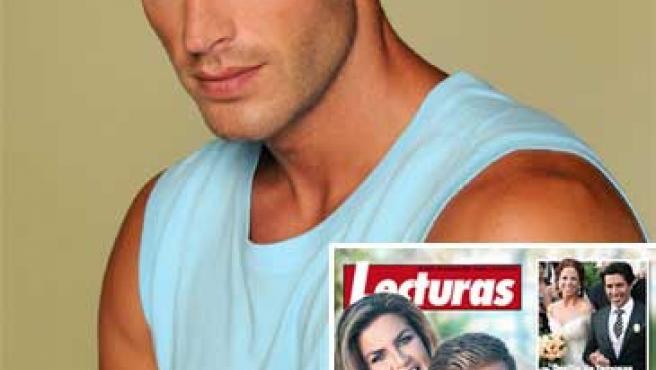 Darek y Susana Uribarri en la portada de 'Lecturas', y un retrato del famoso modelo.