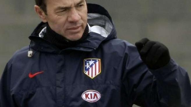Abel Resino, entrenador del Atlético de Madrid.