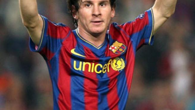 El delantero argentino del Barcelona, Lionel Messi.