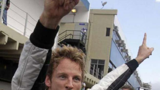 Jenson Button celebra el Mundial 2009 de Fórmula 1.
