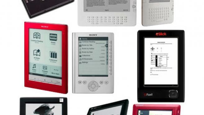 Lectores de libros electrónicos.