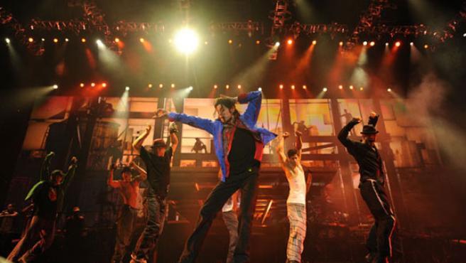 Michael Jackson durante uno de los ensayos.