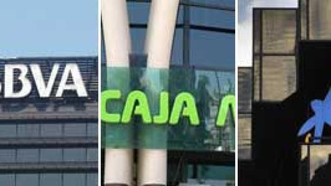Beneficios de Banco Santander, BBVA, Caja Madrid, La Caixa y Banco Popular.