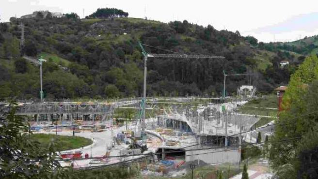 Construcción de los chalés en Barakaldo.