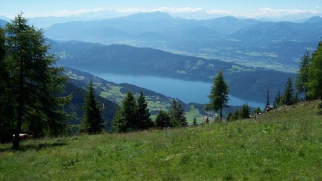 El lago austríaco Milstätter See donde Paul sufrió el accidente.
