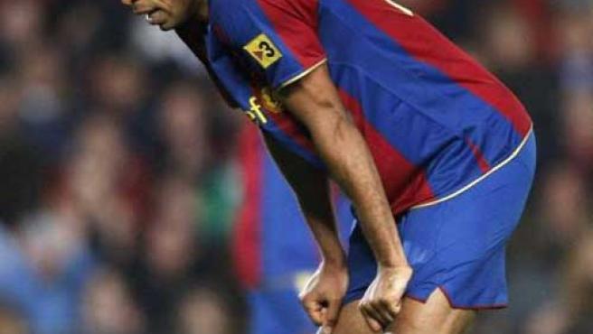Thierry Henry, delantero del Barcelona.