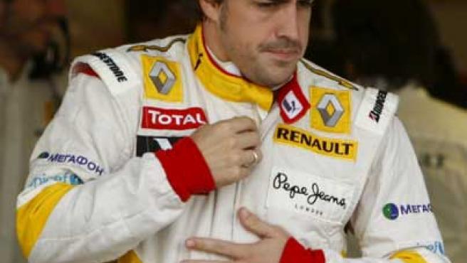 Fernando Alonso, durante el Gran Premio de Abu Dhabi.