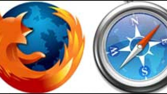 Logos de Internet Explorer, Firefox, Safari y Chrome.