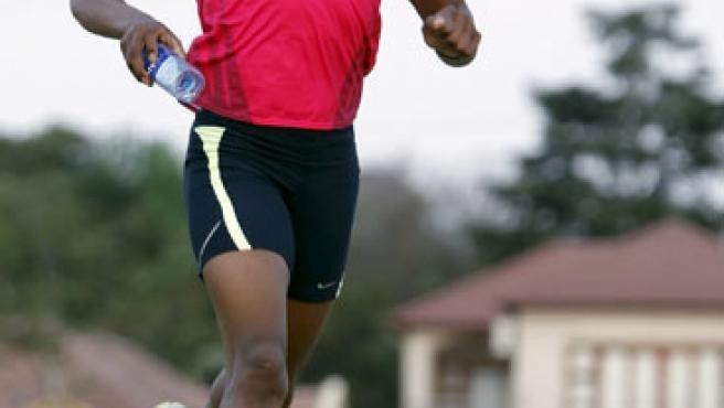 Una imagen de Caster Semenya durante un entrenamiento.