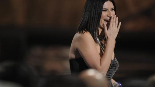 Laura Pausini, durante la gala de los Premios Grammy Latino, celebrada en Las Vegas.