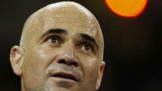 Un primer plano de Andre Agassi. El ex tenista estadounidense ha reconocido que tomó drogas en 1997.