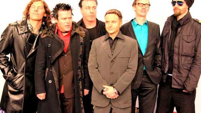 Rammstein, durante una gala en Berlín.