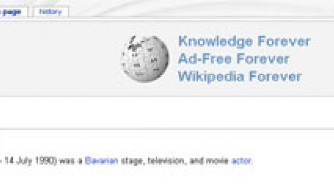 Página de la Wikipedia dedicada al actor Walter Sedlmayr, asesinado por los dos hombres que ahora han demandado a la web.