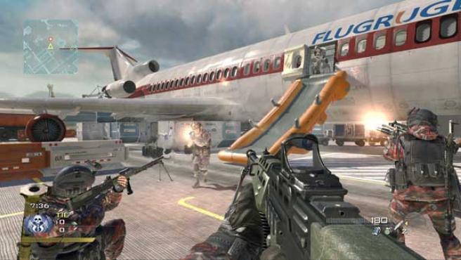 Pantalla de Call of Duty: Modern Warfare 2.