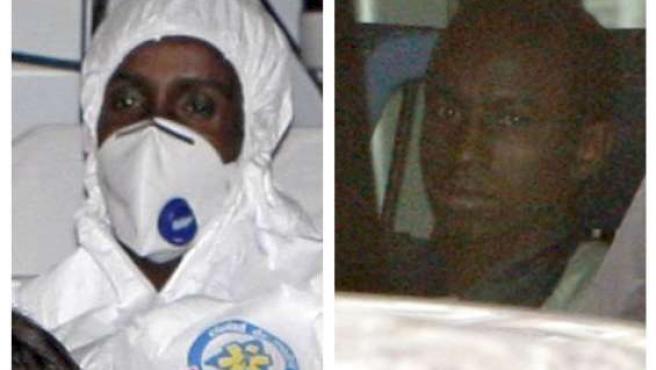Los dos supuestos piratas del 'Alakrana' detenidos, 'Raageggesey Adji Haman' (izda) y 'Abdu Willy' (dcha).