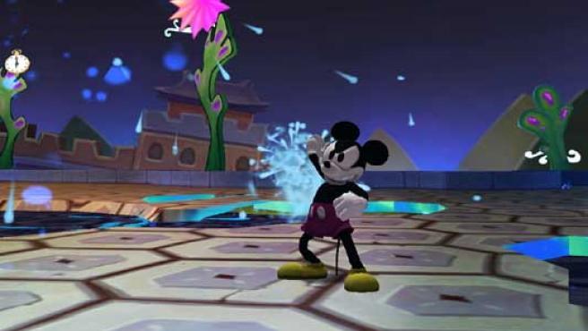 Pantalla del juego Epic Mickey.