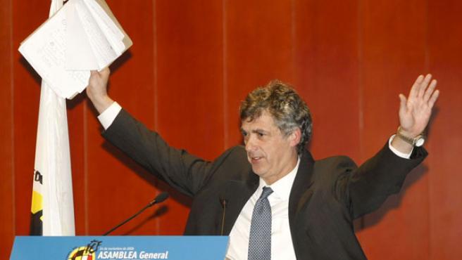 El presidente de la Federación española de fútbol, Ángel María Villar.