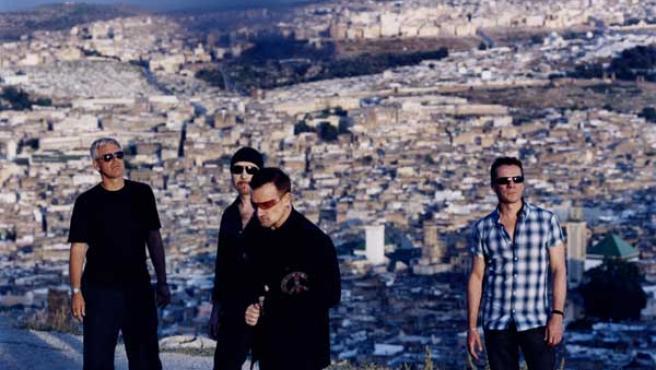 La banda U2 en una imagen promocional.