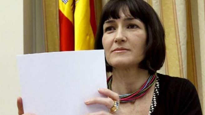 La ministra de Cultura, Ángeles González-Sinde, en el Congreso.
